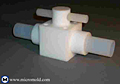 PTFE Plug Valve with PFA Butt-Weld Pipe Connections